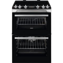 Zanussi Zci66278xa 60Cm Electric Double Oven With Induction Hob - Stainless Steel - A Rated